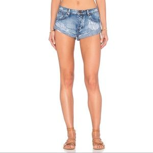 One Teaspoon Cobain Bandits Jean Shorts NWT